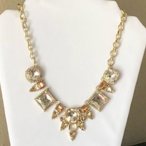 { Anthropologie } LYDELL brand Gold Clear Necklace